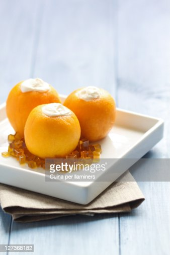 Loquats With Honey And Cottage Cheese Stock Photo - Getty ...