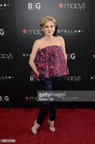Lora Lee Gayer attends Macy's and Broadway Style Guide welcome today's hottest broadway stars for an evening of men's style hosted by NY1's Frank...