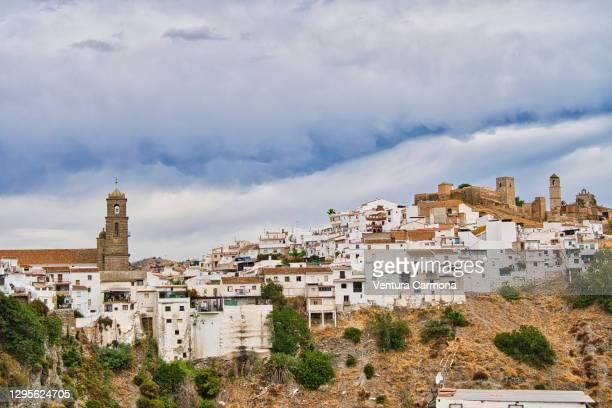 álora - province of málaga, spain - pueblo built structure stock pictures, royalty-free photos & images