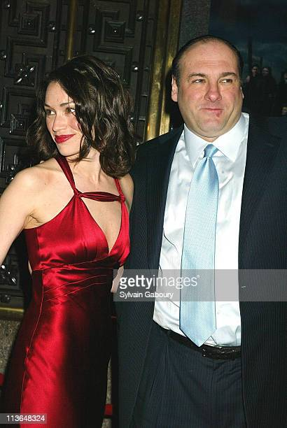 Lora Somoza James Gandolfini during HBO Premiere of The Sopranos Season 5 at Radio City Music Hall in New York New York United States