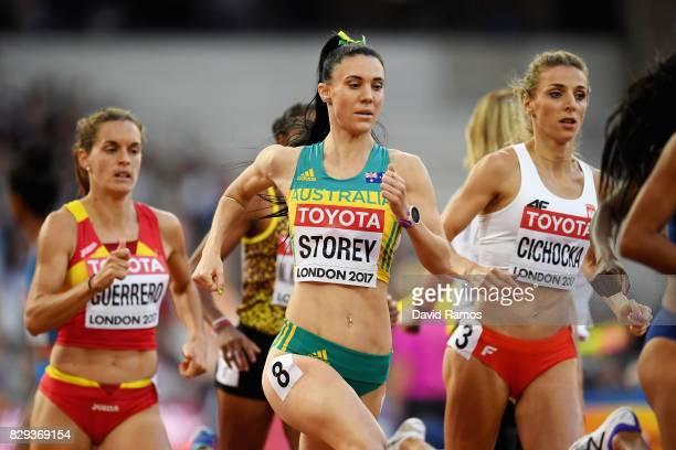 Lora Storey of Australia competes in heat two of the womens 800 metres heats during day seven of the 16th IAAF World Athletics Championships London...