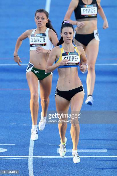 Lora Storey of NSW competes in the womens open 800m 1st round during day six of the Australian Athletics Championships at Sydney Olympic Park...