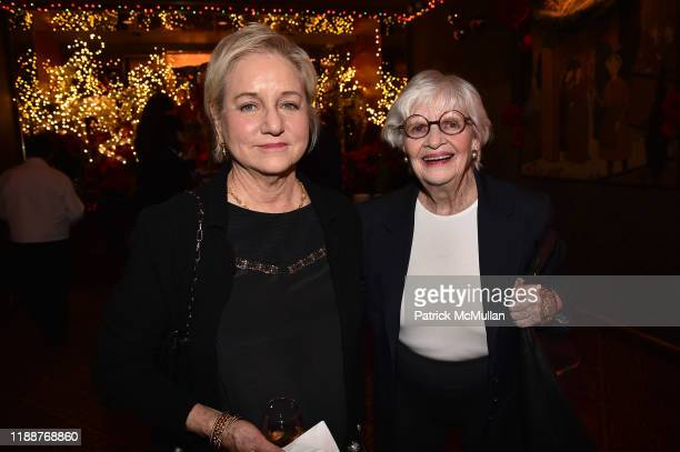 Loraine Boyle and Patricia Bosworth attend Anne Hearst McInerney Jay McInerney and George Farias Host Christmas Cheer at Doubles Club on December 13...