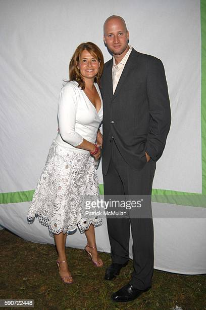 Loraine Bracco and Jason Cipolla attend The Parrish Art Museum Midsummer Party at Parrish Art Museum on July 9 2005 in Southampton NY