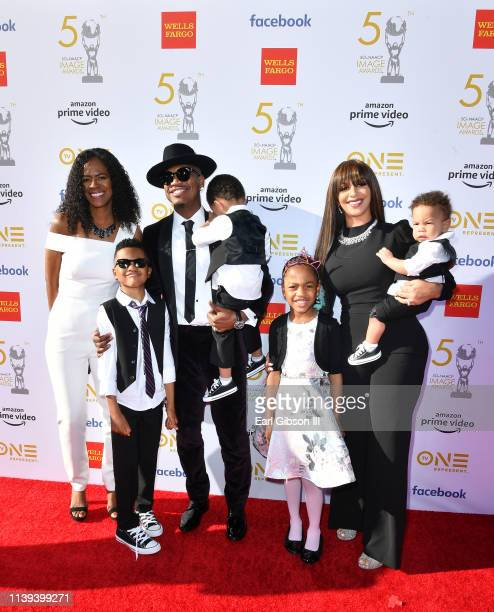 Loraine Smith Mason Smith NeYo Shaffer Smith Madilyn Smith Crystal Renay Williams and Roman Smith attend the 50th NAACP Image Awards at Dolby Theatre...