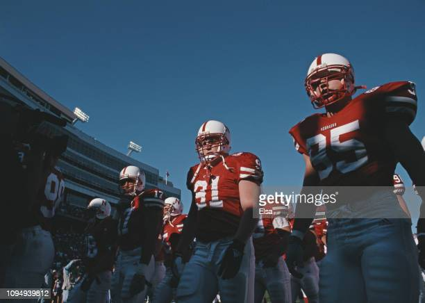 Loran Kaiser Defensive Lineman for the University of Nebraska Cornhuskers during the NCAA Big 12 Conference college football game against the Kansas...