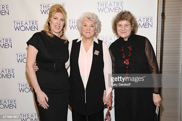 Lorca Peress Tyne Daly and Maxine Kern attend League Of Professional Theatre Women awards at The Pershing Square Signature Center on March 10 2014 in...
