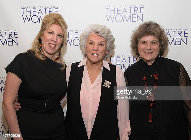 Lorca Peress Tyne Daly and Maxine Kern attends League Of Professional Theatre Women awards at The Pershing Square Signature Center on March 10 2014...