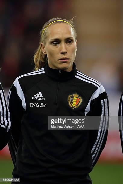 Lorca Van De Putte of Belgium during the UEFA Women's European Qualifier between England and Belgium at The New York Stadium on April 8 2016 in...