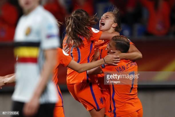 Lorca van de Putte of Belgium women Danielle van de Donk of Holland Women Lieke Martens of Holland Women Shanice van de Sanden of Holland Women...