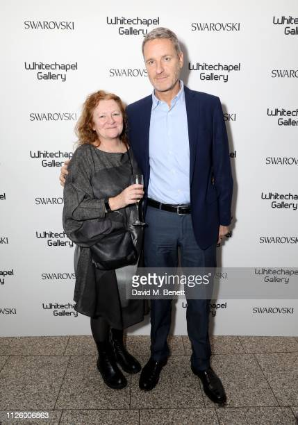 Lorcan O'Neill and Rachel Whiteread attend a glamorous gala dinner at Whitechapel Gallery as Rachel Whiteread is celebrated as the recipient of the...