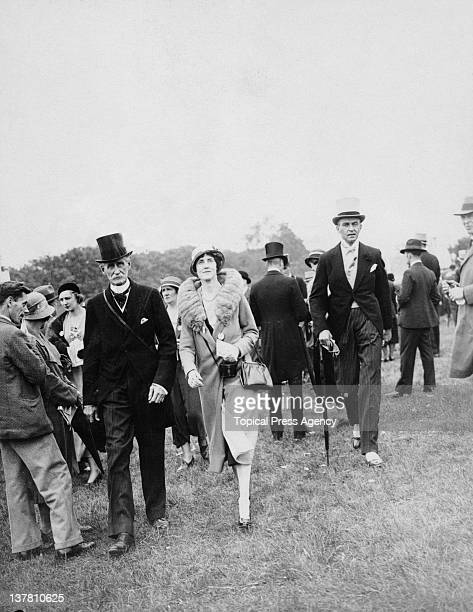 Lord Abergavenny and his daughter, Lady Hastings, attend the Epsom Derby in Surrey, 31st May 1933.
