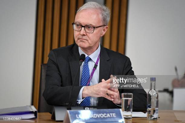Lord Advocate James Wolffe gives evidence to a Scottish Parliament committee at Holyrood in Edinburgh on September 8 examining the handling of...