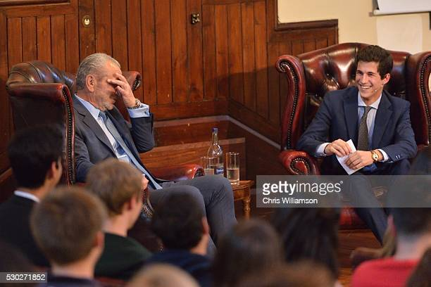 Lord Alan Sugar addresses The Cambridge Union on May 10 2016 in Cambridge Cambridgeshire The Cambridge Union Society has been hosting addresses by...