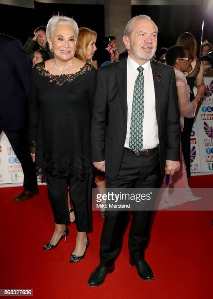 Lord Alan Sugar and Ann Simons attend the Pride Of Britain Awards at Grosvenor House on October 30 2017 in London England