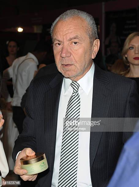 Lord Alan Sugar and sighting at the Ideal Home Show on March 18 2012 in London England