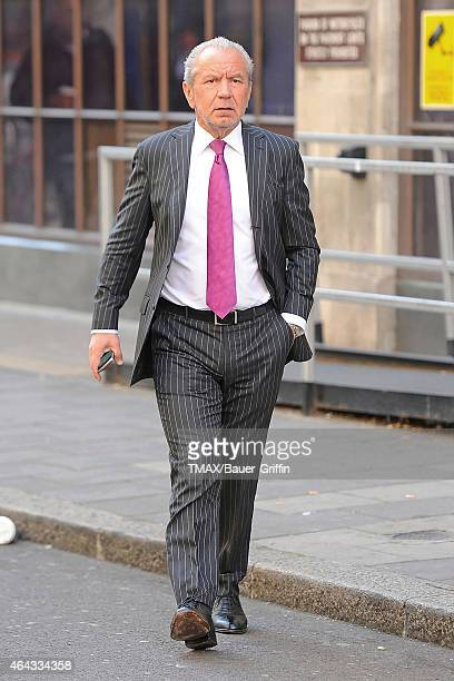 Lord Alan Sugar is seen on September 06 2012 in London United Kingdom