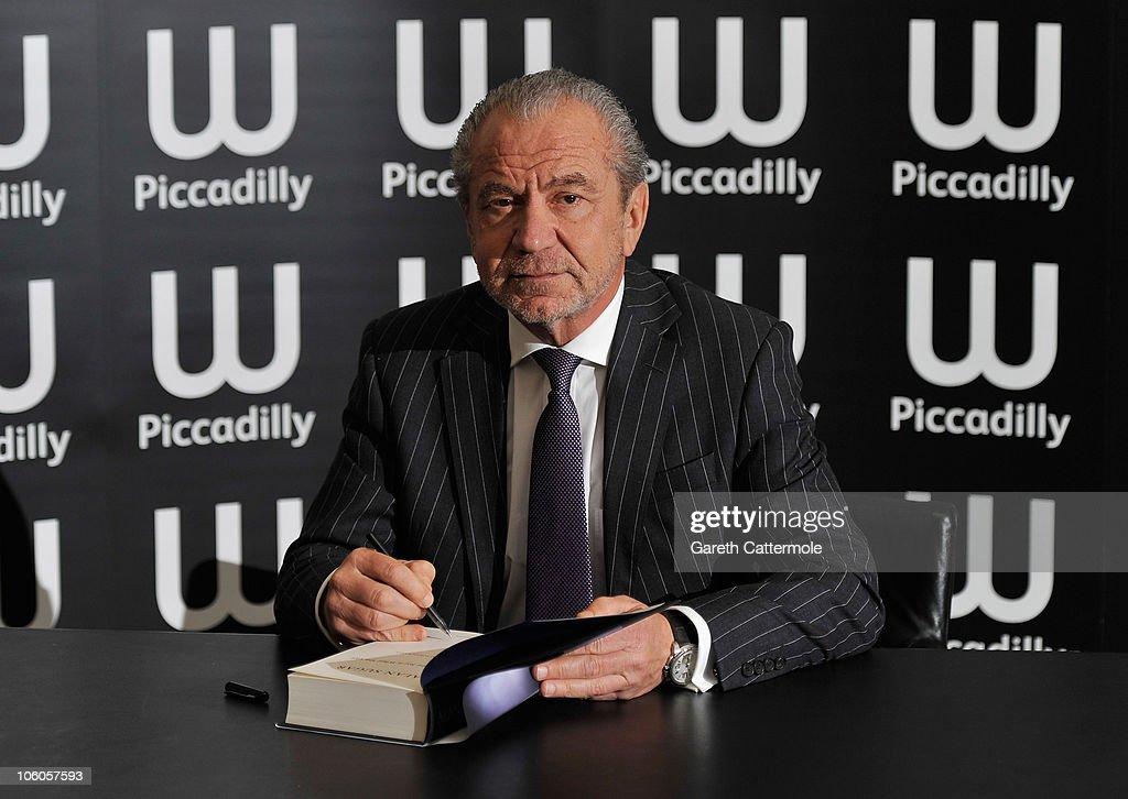 Lord Alan Sugar Book Signing