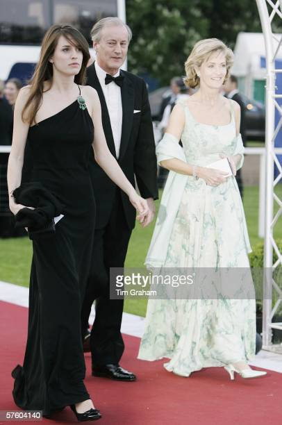 Lord and Lady Brabourne with their daughter Alexandra arrive for a party/dinner at the Royal Windsor Horse Show on May 12 2006 in Windsor England