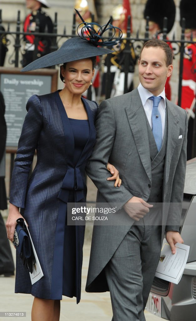 Lord and Lady Frederick Windsor leave We : News Photo