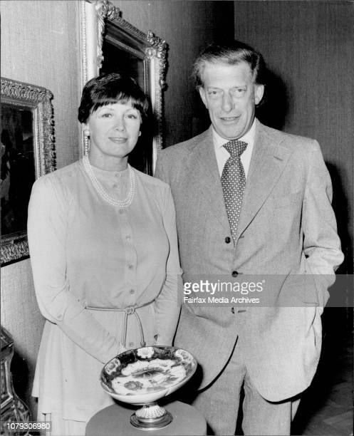 Lord and Lady Harewood with items from Harewood House on display at DJ's Gallery.The Queen's cousin the Earl of Harewood and his Australian-born...