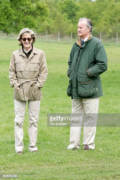 Lord and Lady Romsey attend the Royal Windsor Horse Show in the grounds of Windsor Castle on May 14 2005 in Windsor England
