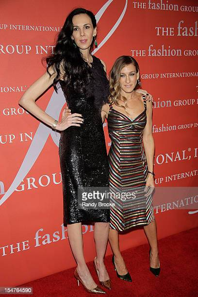 Lord and Taylor Fashion Oracle Award recipient L'Wren Scott with her presenter Sarah Jessica Parker attends the 29th Annual Fashion Group...