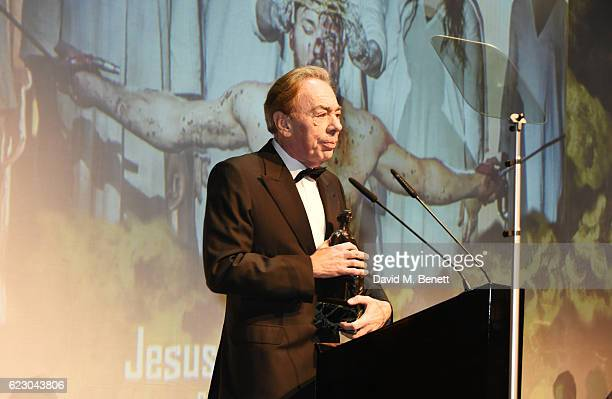 """Lord Andrew Lloyd Webber accepts the Evening Standard Radio 2 Audience Award For Best Musical award for """"Jesus Christ Superstar"""" at the 62nd London..."""