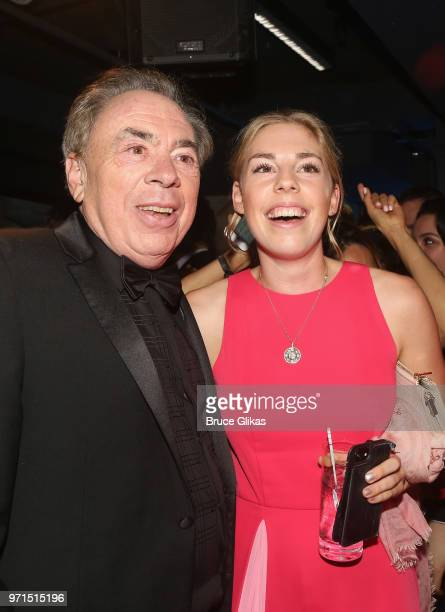 Lord Andrew Lloyd Webber and daughter Isabella Aurora Lloyd Webber pose at the 2018 OM Private Tony After Party at The Carlysle Hotel on June 10 2018...