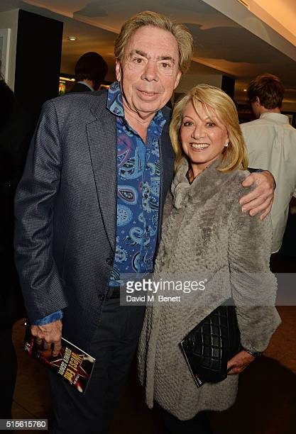 Lord Andrew Lloyd Webber and Elaine Paige attend the press night after party for 'Miss Atomic Bomb' at the St James Theatre on March 14 2016 in...