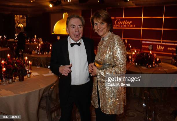 Lord Andrew Lloyd Webber and Lady Carolyn Warren attend the 2018 Cartier Racing Awards at The Dorchester on November 13 2018 in London England