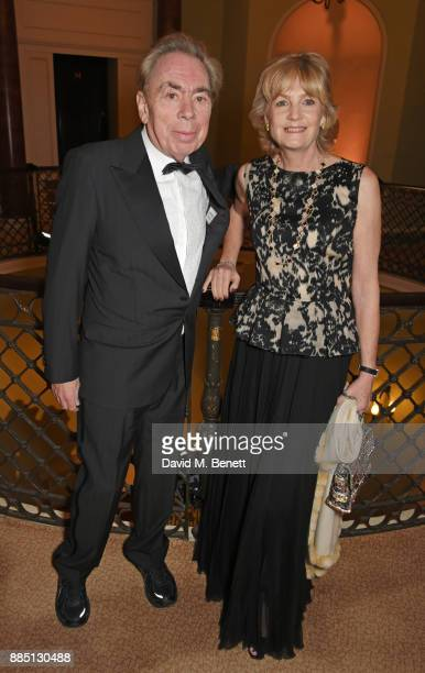 Lord Andrew Lloyd Webber and Lady Madeleine Lloyd Webber attend a drinks reception ahead of the London Evening Standard Theatre Awards 2017 at the...
