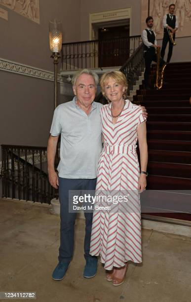 Lord Andrew Lloyd Webber and Lady Madeleine Lloyd Webber attend the official opening of the Theatre Royal Drury Lane, affectionately known as The...