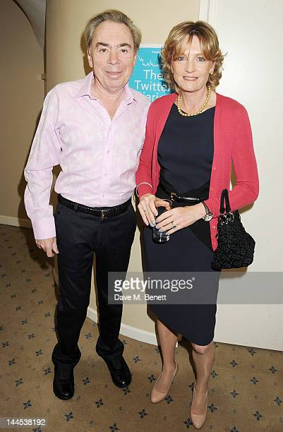 Lord Andrew Lloyd Webber and Lady Madeleine Lloyd Webber attend the launch of The Twitter Diaries a new ebook by Georgie Thompson and Imogen Lloyd...