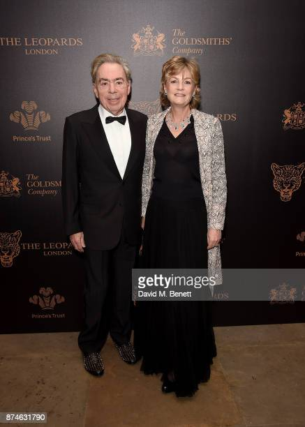Lord Andrew Lloyd Webber and Lady Madeleine Lloyd Webber attend the Leopard Awards in Aid of the Prince's Trust at Goldsmith's Hall on November 15...
