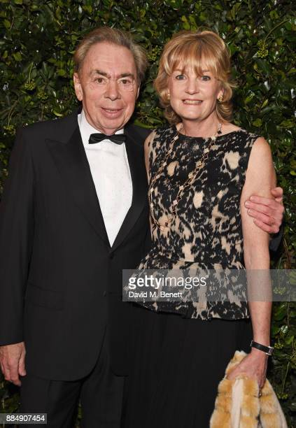 Lord Andrew Lloyd Webber and Lady Madeleine Lloyd Webber attend the London Evening Standard Theatre Awards 2017 at the Theatre Royal Drury Lane on...