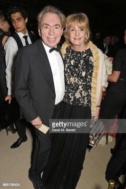 Lord Andrew Lloyd Webber and Lady Madeleine Lloyd Webber attend the London Evening Standard Theatre Awards 2017 after party at the Theatre Royal...