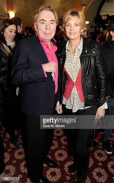 Lord Andrew Lloyd Webber and Madeleine Lloyd Webber arrive at the Gala Press Night performance of 'Viva Forever' at the Piccadilly Theatre on...