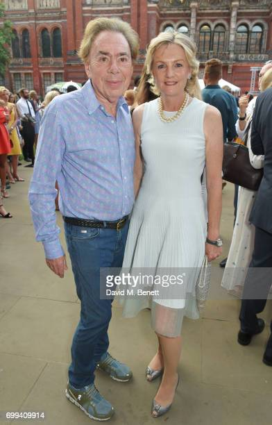 Lord Andrew Lloyd Webber and Madeleine Lloyd Webber attend the 2017 annual VA Summer Party in partnership with Harrods at the Victoria and Albert...