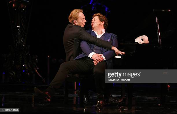 Lord Andrew Lloyd Webber and Michael Ball perform onstage at 'The Phantom Of The Opera' 30th anniversary charity gala performance in aid of The Music...