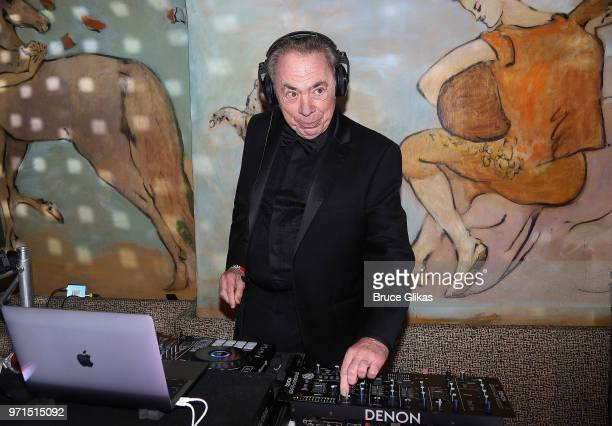 Lord Andrew Lloyd Webber deejays at the 2018 OM Private Tony After Party at The Carlysle Hotel on June 10 2018 in New York City