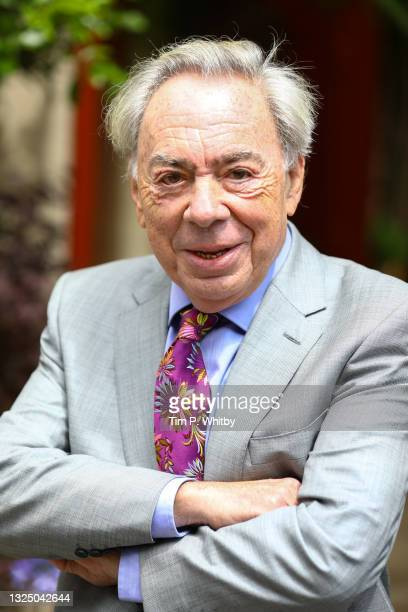 Lord Andrew Lloyd Webber during a royal visit to Theatre Royal on June 23, 2021 in London, England. Theatre Royal Drury is the oldest theatre site in...