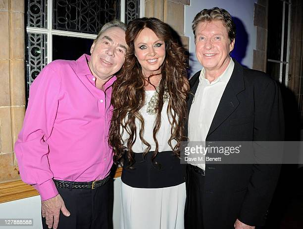 Lord Andrew Lloyd Webber Sarah Brightman and Michael Crawford attend an afterparty following the 25th Anniversary performance of Andrew Lloyd...