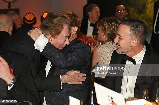 Lord Andrew Lloyd Webber, Sir Elton John and David Furnish attend the 62nd London Evening Standard Theatre Awards, recognising excellence from across...