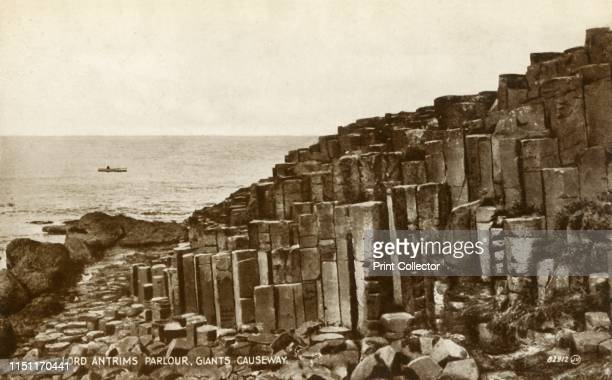 Lord Antrims Parlour Giants Causeway' late 19thearly 20th century View of Giant's Causeway in County Antrim on the north coast of Northern Ireland...