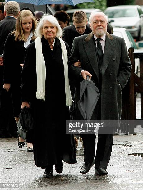Lord Attenborough attends the funeral service held for actor Sir John Mills on April 27 2005 in Denham England