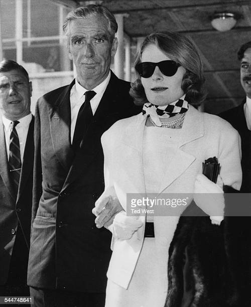 Lord Avon formerly Sir Anthony Eden and his wife arriving at London Airport August 29th 1962