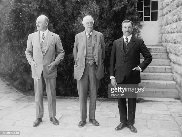 Lord Balfour's visit to the Hebrew University of Jerusalem Palestine 1925 Arthur James Balfour British statesman Herbert Samuel British politician...