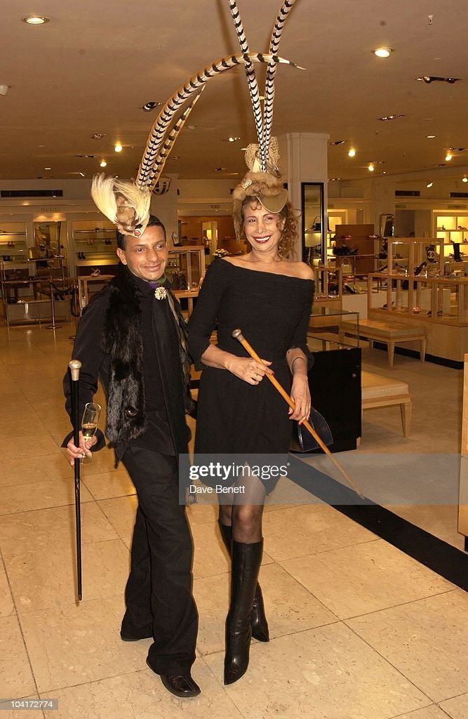 Lord Bath's Wifelet With A Friend, Italian Designer Missoni Celebrated Having An Outlet At Harrods By Staging A Fashion Show Of Their Latest Range.