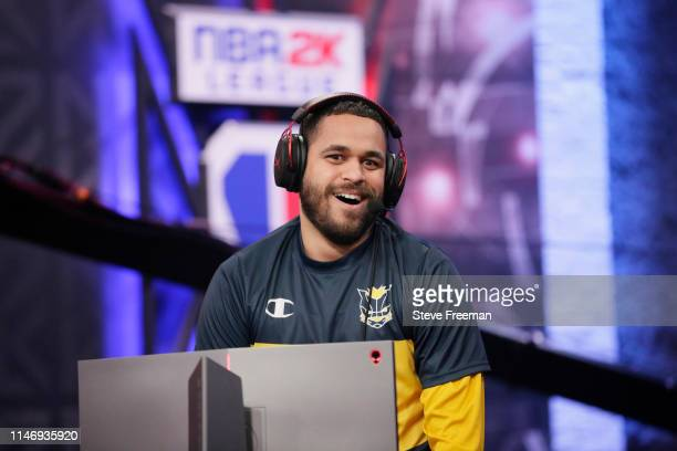 Lord Beezus of Pacers Gaming reacts during the match against the Warriors Gaming Squad during Week 7 of the NBA 2K League regular season on May 29...